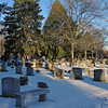 Ewing Cemetery after the snowstorm of December 2010  An HDR image of the cemetery.