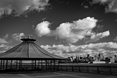 From Hoboken, New Jersey, looking acros the Hudson River at the New York City skyline.