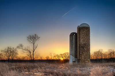 Twin Silo Sunset