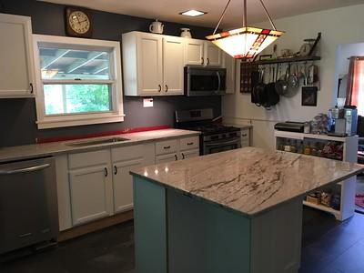 New Kitchen Granite, Doug & Taryn visit & wedding plan May 27, 2017