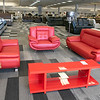 A new furniture store called Sam's Furniture & Liquidation Outlet has opening in the former Shaw's Supermarket space in Leominster. A living room set they sell in the store. SENTINEL & ENTERPRISE/JOHN LOVE