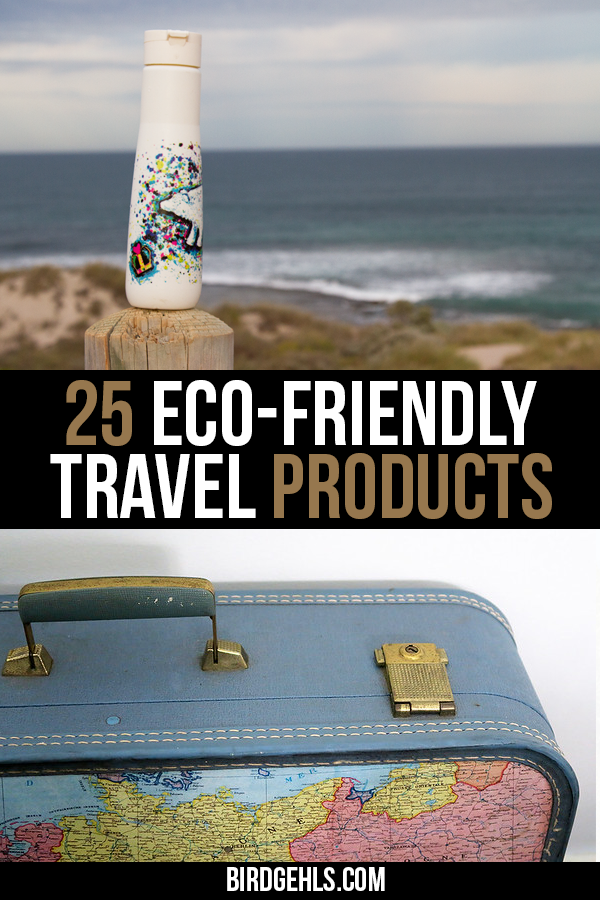 Here are some eco-friendly travel products you should take with you if you want to be a more sustainable traveller. Some are only needed for short trips, but others will come in handy if you're nomadic or are going away for a longer holiday. / #EcoTraveller / #GreenTravel / #SustainableTravel /
