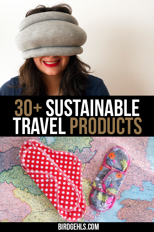 Here are some eco-friendly travel products you should take with you if you want to be a more #sustainable traveller. Some are only needed for short trips, but others will come in handy if you're nomadic or are going away for a longer holiday. / #EcoTraveller / #GreenTravel / #SustainableTravel / Eco friendly products for sustainable travel / Eco-friendly products / Travel accessories / Eco friendly travel bags / #EthicalTravel / #Responsibletravel /