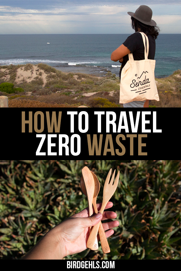 Are you looking to embrace zero waste travel? Having a travel kit with reusable items is one way to start travelling in an eco-friendly way, quickly. This Travel Essentials kit contains a reusable tote and produce bag, two drink bottles, cutlery, a straw and a lunchbox and will help you travel zero waste at home and abroad. / #SustainableTravel / #EcoFriendlyTravel / #EcoTraveller / #GreenTravel / #SustainableTravel / Eco-friendly products / Travel accessories / Eco friendly travel bags /