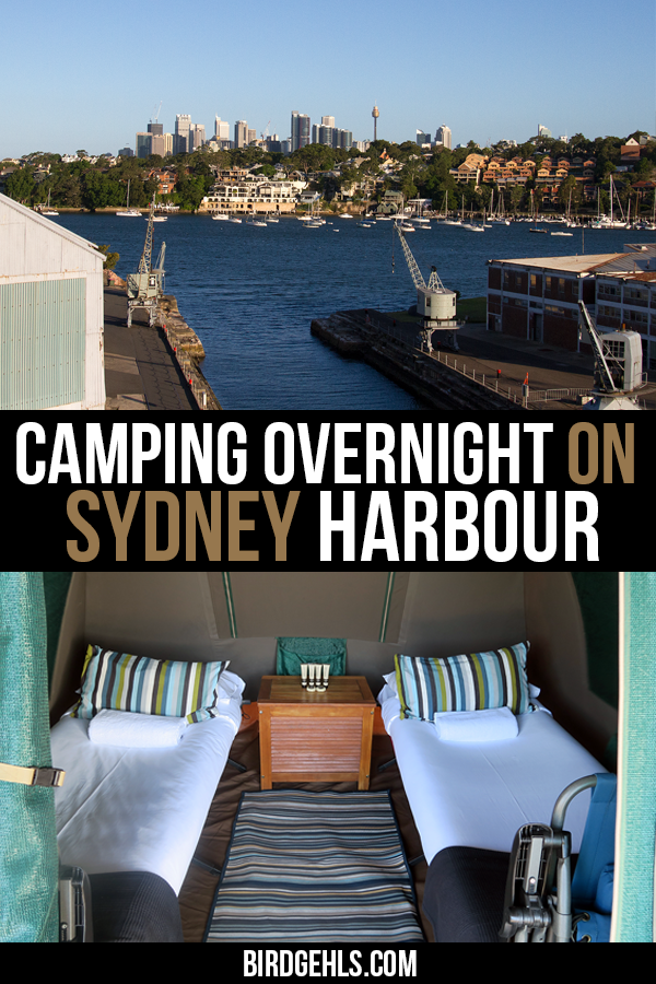 Did you know there's an island in Sydney Harbour that you can camp on overnight? It's certainly one of the more unique things to do in #Sydney. Find out more about Cockatoo Island camping here. / Unique things to do in Sydney / Sydney Glamping / Sydney Camping / Sydney Accommodation / Sydney History / #SeeAustralia / #SydneyHarbour /