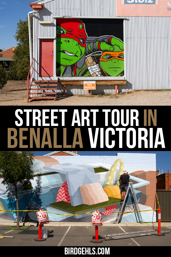 If you're travelling through #Victoria in #Australia, make sure you allocate some time to check out the #Benalla street art, in this small, colourful town. There are over 65 murals located throughout Benalla, painted by many national and international street artists such as Dvate, Adnate, Rone, Kaff-eine, Leonard Siaw , George Rose and Lisa King.  / Urban Art in Australia / #SeeAustralia / #BenallaWalltoWall / #VisitVictoria