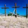 Forgiven. Penitente Morada Crosses, Abiquiu, New Mexico.