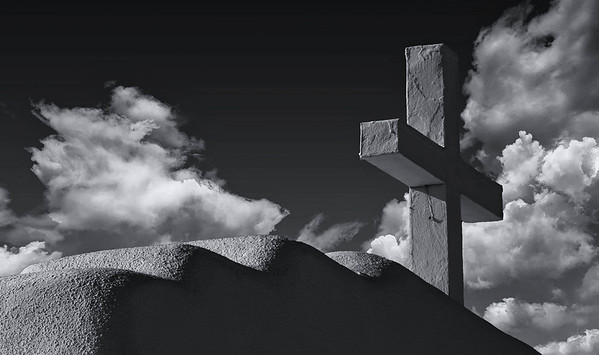 Crosses in Black and White, San Geronimo Mission in Taos Pueblo