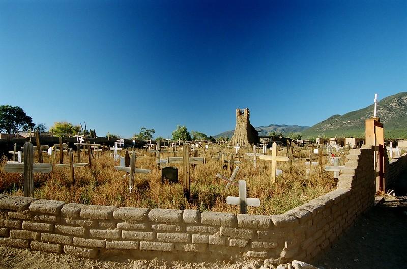 Taos Pueblo Cemetery.