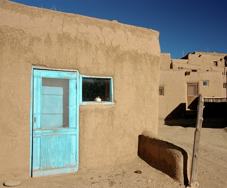 Blue Door in Taos Pueblo.