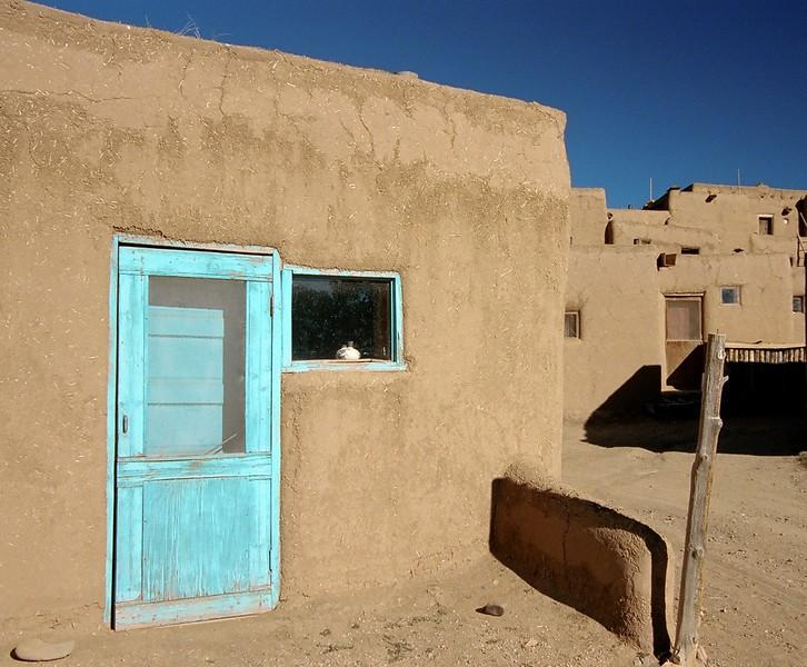 Blue Door in Taos Pueblo.