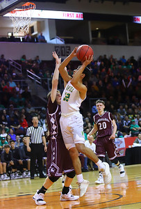 Pecos faces off against Magdalena during Wednesday's game at the Santa Ana Star Center. Pecos beat Magdalena 57-45. Gabriela Campos/The New Mexican