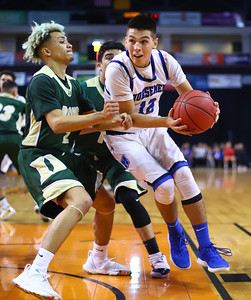 St. Michael's plays against West Las Vegas during  Wednesday's game at the Santa Ana Star Center on March 13, 2019.  St.Michael's beat West Las Vegas 74-34.   Gabriela Campos/The  New Mexican