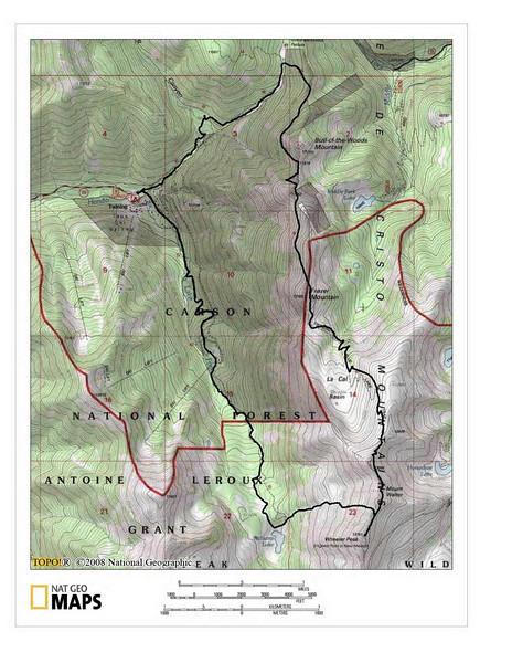Wheeler Peak Map