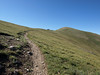 The trail goes up to the ridge and continues along over and around a number of bumps before you arrive at Wheeler Peak.