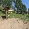 The Scenic Trailhead is at the last hairpin curve before the entrance to Ski Apache.