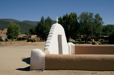 Taos Pueblo Mission Courtyard, 2010