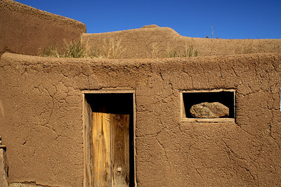 Taos Pueblo, Window with Rock