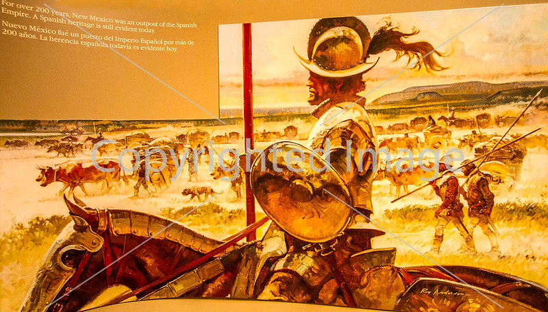 Visitor Center artwork at Pecos National Historical Park, NM - D1-3 - C2 --0111 - 72 ppi-X2