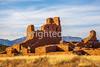 New Mexico - Cyclist at Quarai unit of Salinas Pueblo Missions National Monument - D5-C3-0183 - 72 ppi-X2