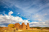 New Mexico - Cyclist at Quarai unit of Salinas Pueblo Missions National Monument - D5-C3-0119 - 72 ppi-X2