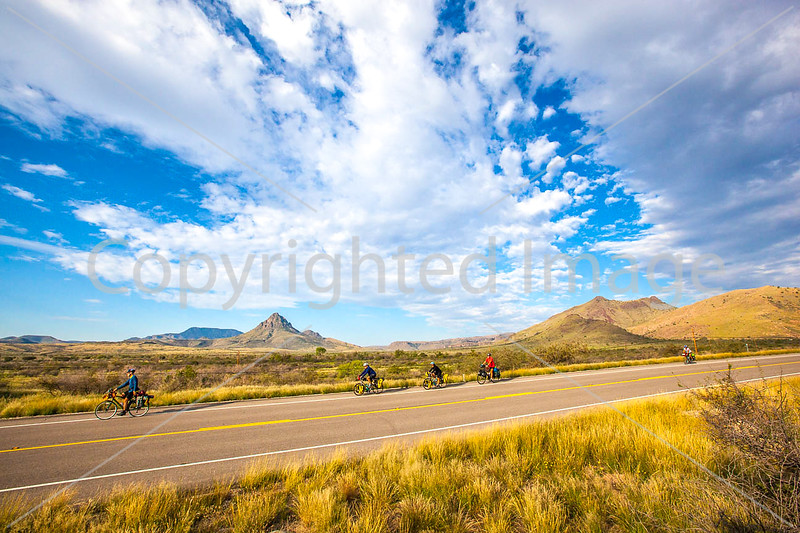 Southern Tier riders, Fort Davis to Alpine, Texas - C2-0128 - 72 ppi