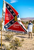 New Mexico - Protester at ceremony unveiling monument to Texas Confederates in Socorro cemetery - 2-24-12-C3-0036 - 72 ppi-X3