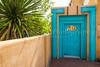 A decorative door in Old Town Albuquerque, New Mexico, USA.