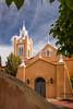 The San Felipe de Neri Parish church in Old Town, Albuquerque, New Mexico, USA.