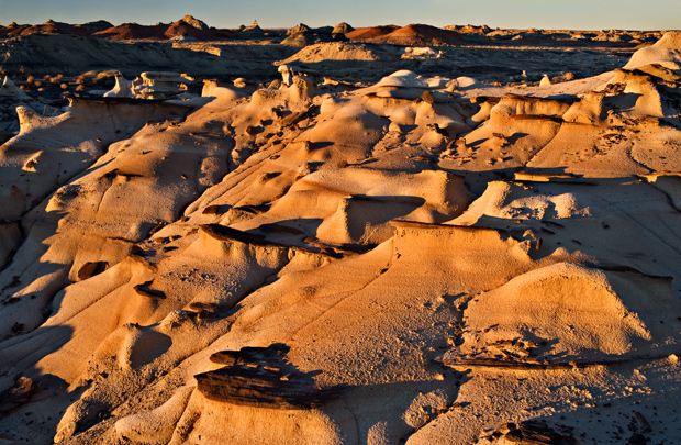 Fluvial Sandstone Sunset - Tabular Concretions on bedding planes