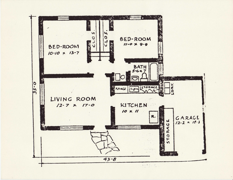 Floor Plan from Library.  Address Unknown.