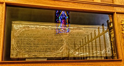 Stone Casket in Cathedral of Sante Fe