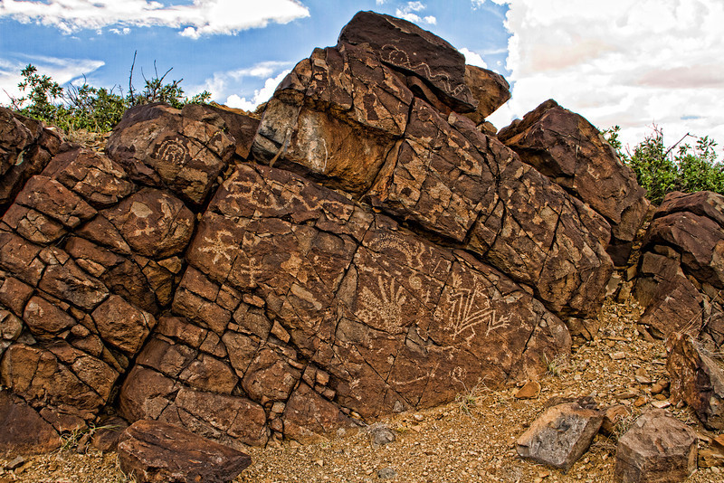 Petroglyphs on the Rocks