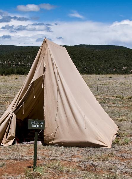 Tent - Civil War Encampment, Pecos, New Mexico.