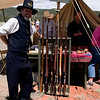 Union Soldier with Rifles - Civil War Encampment, Pecos, New Mexico,