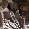 Ladder to Cliff Dwelling - Bandelier National Monument, New Mexico.