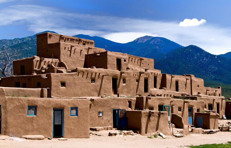 Pueblo Dwelling - Taos Pueblo, New Mexico.