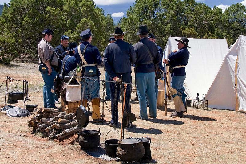 Union Soldiers - Civil War Encampment, Pecos, New Mexico.