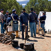 Union Soldiers - Civil War Encampment, Pecos, New Mexico.