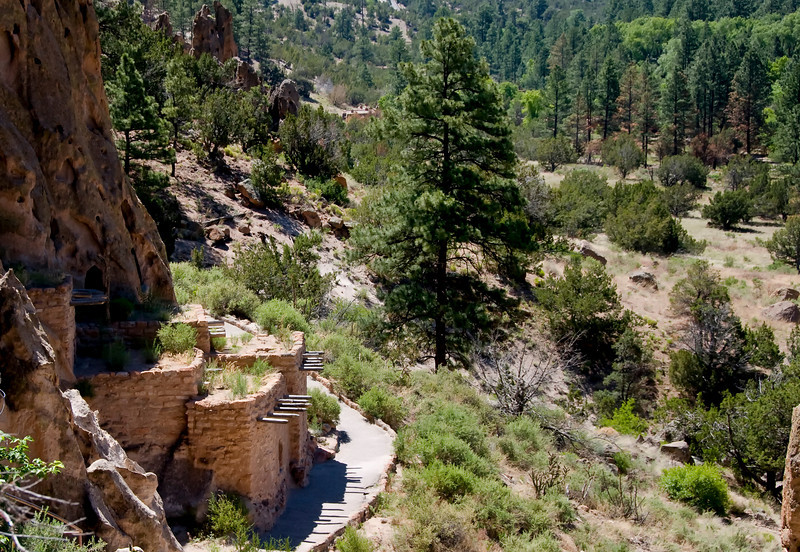 Talus House at Tyuonyi, Bandelier National Monument, New Mexico.