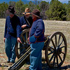 Union Soldiers with Cannon - Civil War Encampment, Pecos, New Mexico,