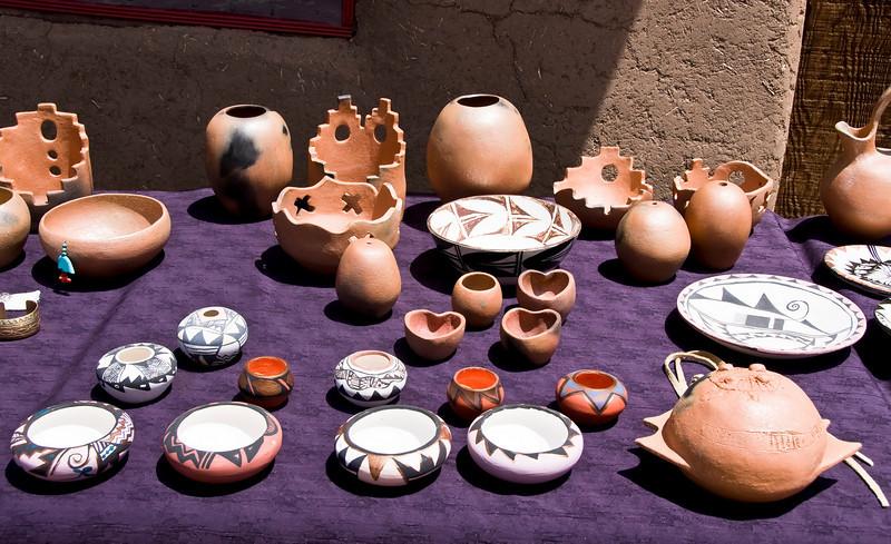 Pottery - Taos Pueblo, New Mexico.
