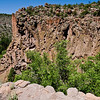 Cliff from Burnt Mesa Trail - Bandelier National Monument, New Mexico.