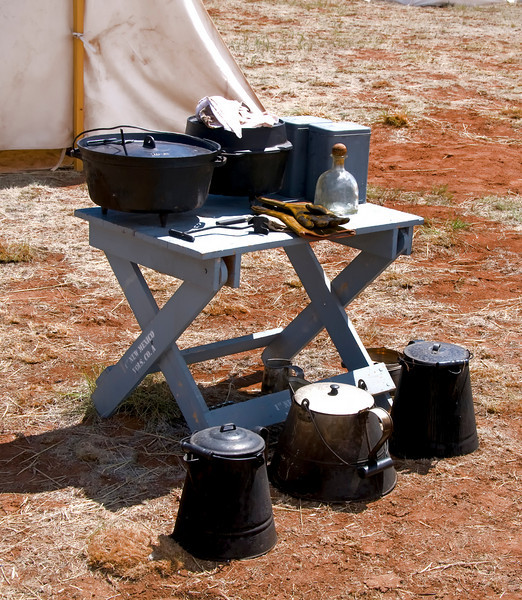 Mess gear - Civil War Encampment, Pecos, New Mexico.