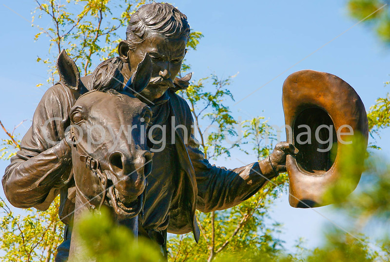 Cattle baron John Chisum statue in Roswell, NM - -0079 - 72 ppi