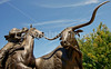 Cattle baron John Chisum statue in Roswell, New Mexico -0154 - 72 ppi