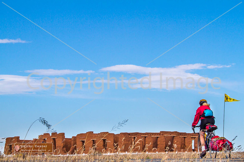 Cyclist at Fort Union National Monument, NM - D4-C1-0265 - 72 ppi