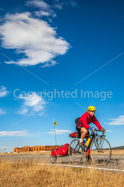 Cyclist at Fort Union National Monument, NM - D4-C3-0341 - 72 ppi