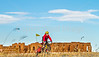 Cyclist at Fort Union National Monument, NM - D4-C1-0279 - 72 ppi