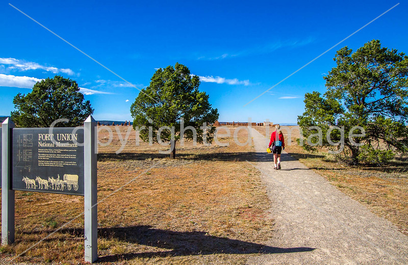 Cyclist at Fort Union National Monument, NM - D4-C2-0448 - 72 ppi